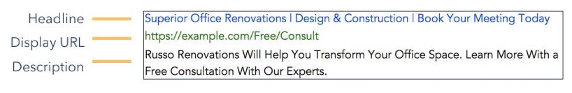 谷歌广告描述文案