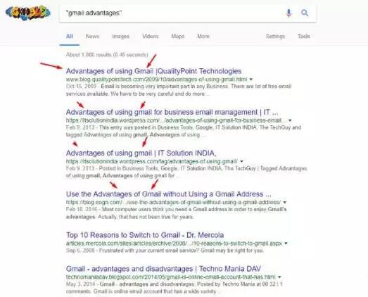 不使用双引号来缩小谷歌搜索结果
