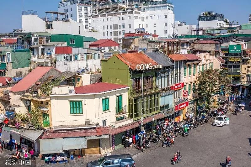 资料图片:越南河内街头