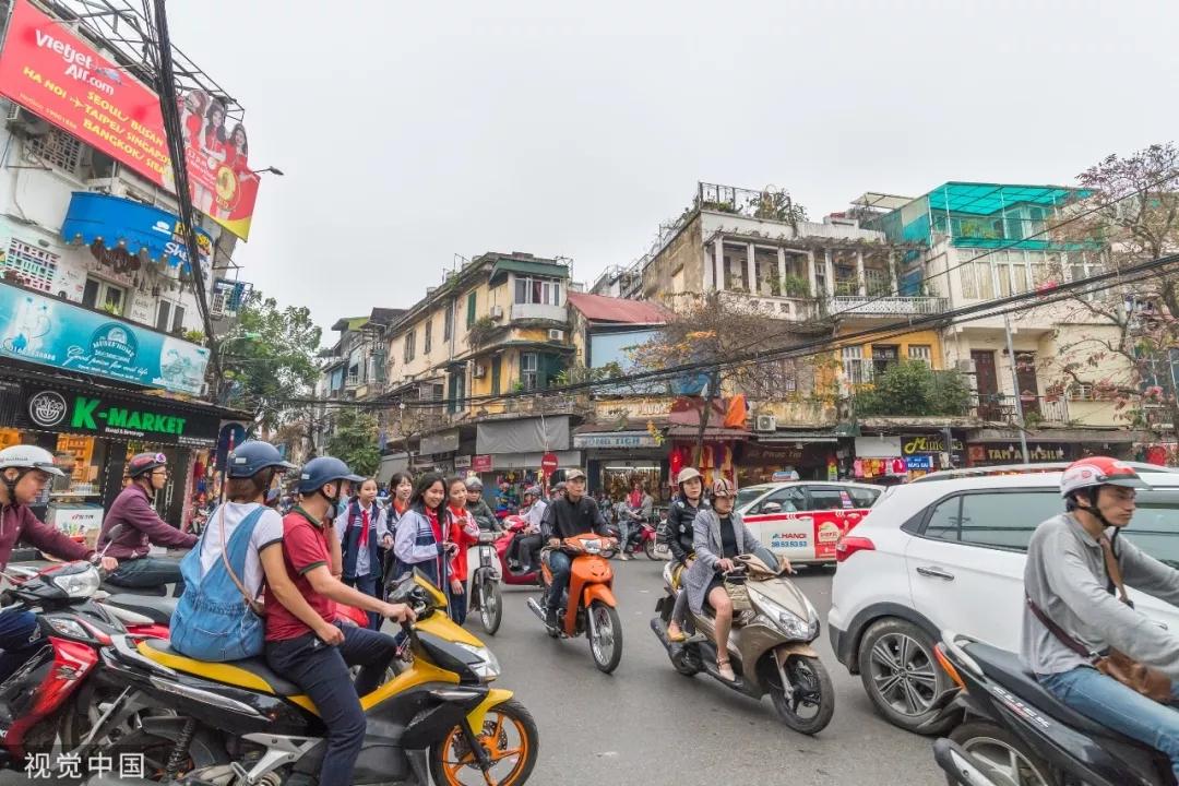 资料图片:河内街景